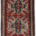 Antique Kazak Chelaberd in perfect condition. cm 212x156. 1870/1880 ca