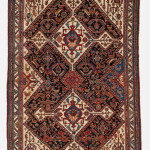 Qashqai rug, Late 19th century, Excellent condition, All natural colours, Not restored, Size: 196 x 125 cm. (77 x 49 inch).