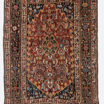 End XIX century persian Qashqai' cm 218x146 never repaired. Top condition. Wool on wool with stunning colors