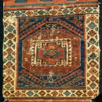 Early Shahsavan soumak bagface.Not washed.As found, challenged condition but rare design and excellent natural colours. 59 x 49 cm