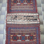 bakhtiary khorjin double bag. double technique sumak and pile. graphic design and in good condition