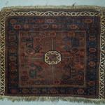 baluch bagface in fair condition, 1890 ca