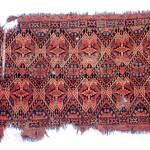 beshir ikat large chuval fragment. 1850 ca