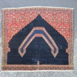 senneh saddle cover, repiled areas, sewn on the middle. end XIX cent to early XX cent.
