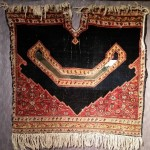 senneh saddle cover. 1880 ca. velvet wool. of course damaged but super fine knot and amazing colours
