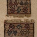 luri bakhtiary pair bagface for chanteh o little Khorjin. double bird motif. The biggest has a repair. 21 x 20 cm. and 21 x 17 cm.