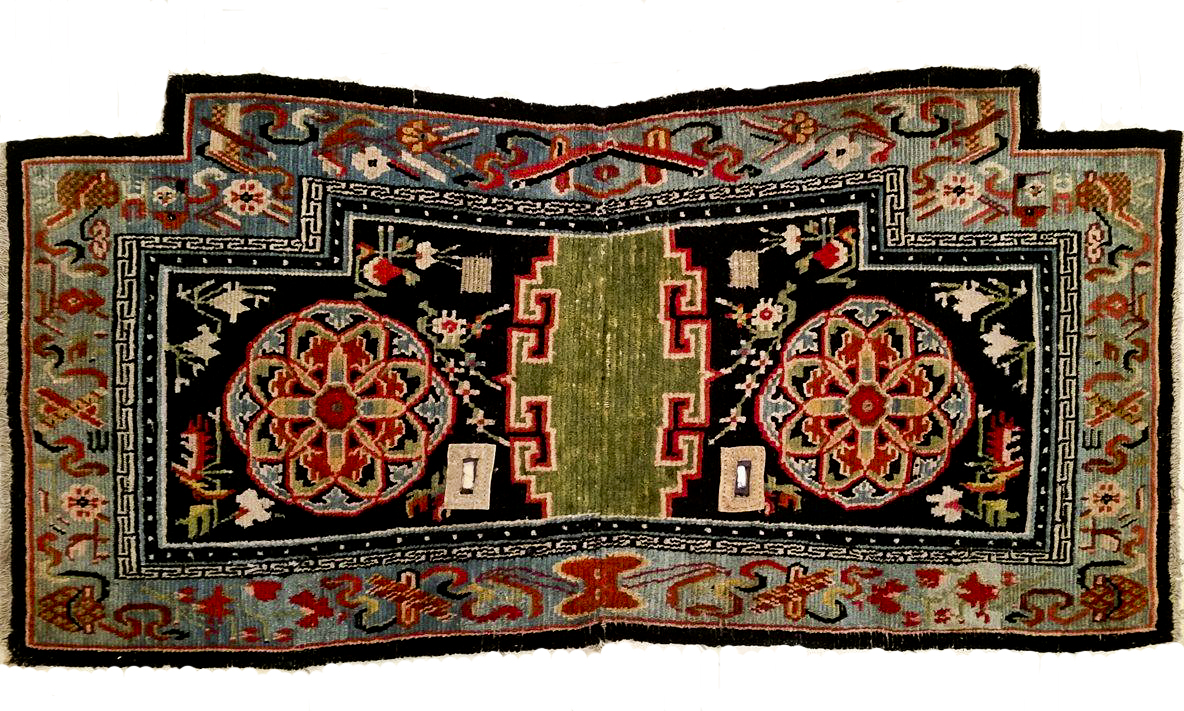 tibetan saddle cover end XIX/early XX cent. Beautiful colors and in perfect confdition.